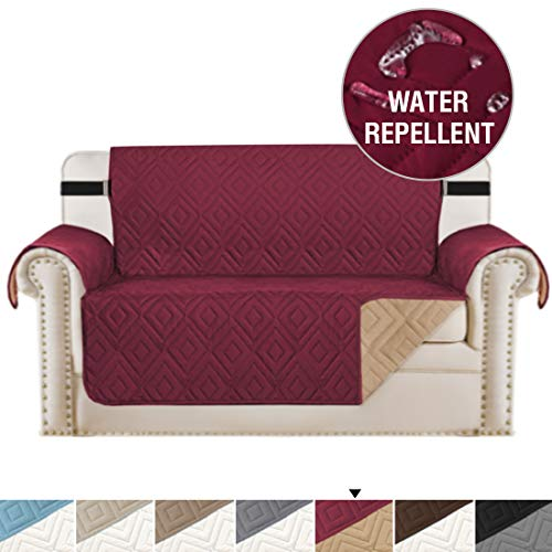 Sofa Covers for Pets, Water-repellent Slipcovers for Couches and Loveseats, Seat Width Up to 46