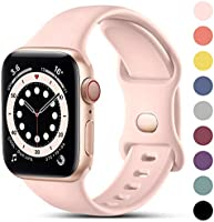 CeMiKa Compatible with Apple Watch Strap 38mm 40mm 42mm 44mm, Soft Silicone Sport Band Replacement Straps Compatible with...