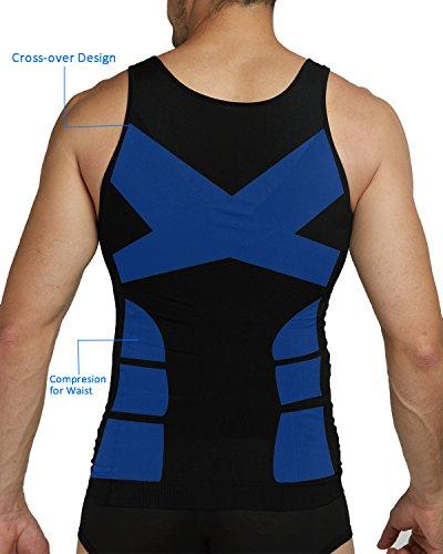 10d4831a2 Shaxea Mens Slimming Body Shaper Vest Shirt Tank Top Compression Shirt
