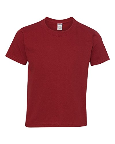 Jerzees Heavyweight Blend Youth Tee (Crimson) (S)