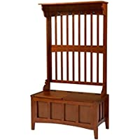 Bowery Hill Hall Tree with Storage Bench in Walnut