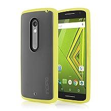 Motorola DROID MAXX 2 / Moto X Play Case, Incipio [Co-Molded Case][Shock Absorbing] Octane Case for Motorola DROID MAXX 2 / Moto X Play-Frost/Yellow