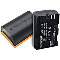 Bonadget 2 PCs 2600mAh Replacement LP-E6 LP-E6N Battery for Canon EOS 5D Mark II, EOS 5D Mark III, 5D Mark IV, EOS 70D, EOS 80D, EOS 60D, 60Da, EOS 5DS, EOS 5DS R, EOS 6D, EOS 7D, 7D Mark II Camera