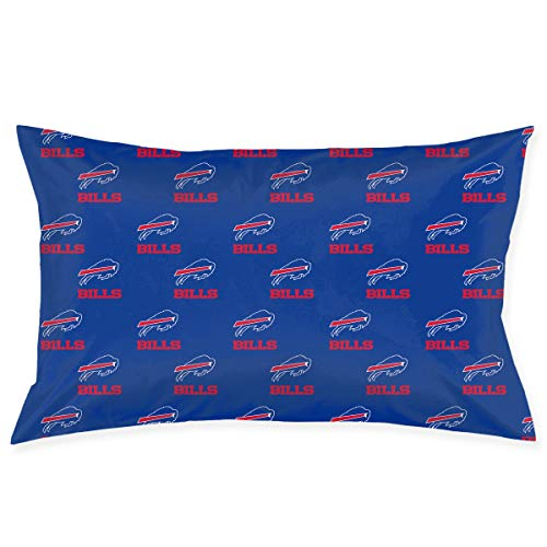 Jerrymoaus Buffalo Bills Simple Repetition, Zipper Pillowcase, Sofa Pillowcase, Office Pillowcase (20