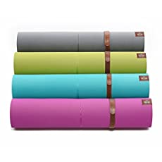 Heathyoga Eco Friendly Non Slip Yoga Mat, Body Alignment System, SGS Certified TPE Material - Textured Non Slip Surface and Optimal Cushioning, 72