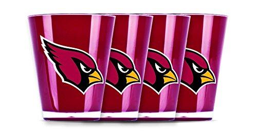 NFL Arizona Cardinals Insulated Acrylic Shot Glass Set of 4
