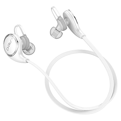 DrBlu Bluetooth Headphones V4.1 Wireless Pro Sport Stereo Sweatproof Headset Earphones Earbuds with HQ Bass APT-X and Built-in Mic for iPhone 5 6 7 8 X and Android Phone - Bass Today Hours Pro