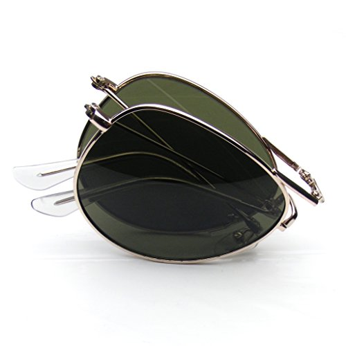 Folding Pocket Metal Aviator Sunglasses - Folding Aviator