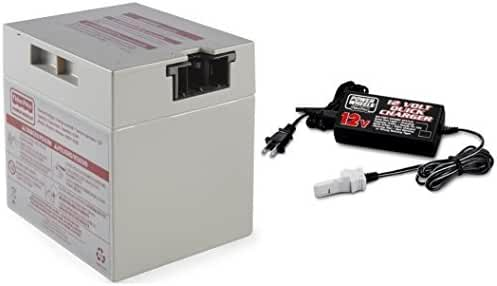 Power Wheels 12 Volt Gray Battery (00801-0930) and 12v Quick Charger (00801-1782) Combo Pack by Power Wheels