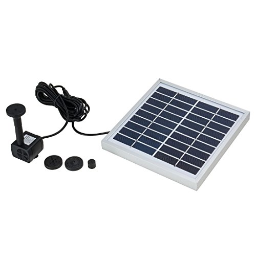 uxcell 3W Outdoor Solar Fountain Pump Waterfall for Pool Garden Pond Bird Bath Decorative Submersible Solar Panel Kit Water Pump