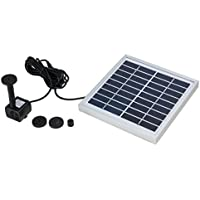 uxcell 3W Outdoor Solar Fountain Pump Waterfall for Pool Garden Pond Bird Bath Decorative Submersible Kit Water Pump