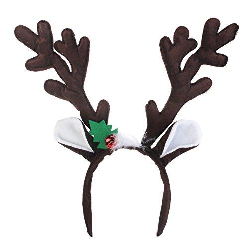 Leorx Navidad vacaciones fiesta Reno cuernos diadema (café): Amazon.es: Bricolaje y herramientas