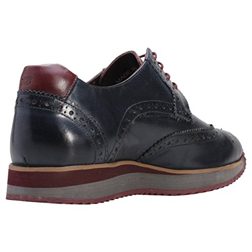 London Mens Navy Brogue Luke Shoes Brogues Leather 0qr0w4