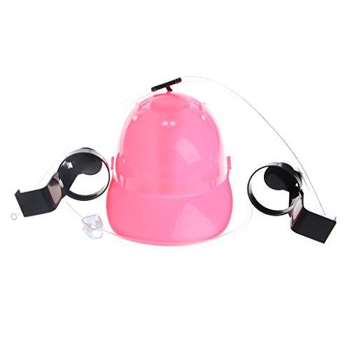 Beer Wine Drinking Helmet Hard Hat Game Drink Party Dispenser New Year Carnival (Pink) Hat New Beer