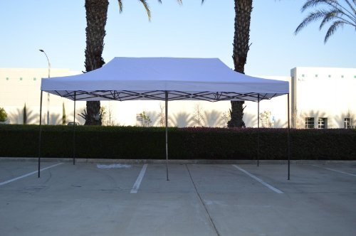 American Phoenix Canopy Tent 10×20 foot White Party Tent Gazebo Canopy Commercial Fair Shelter Car Shelter Wedding Party Easy Pop Up – White
