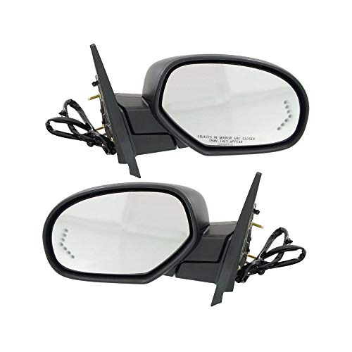 Power Mirror compatible with Chevy Avalanche 07-13/Suburban 07-14 Right and Left Side Power Folding Heated W/Mem Signal Light and Puddle Light 2 Caps