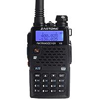 Zastone V9 Walkie Talkie 128-Channel 5W UHF/VHF Two-Way Radio