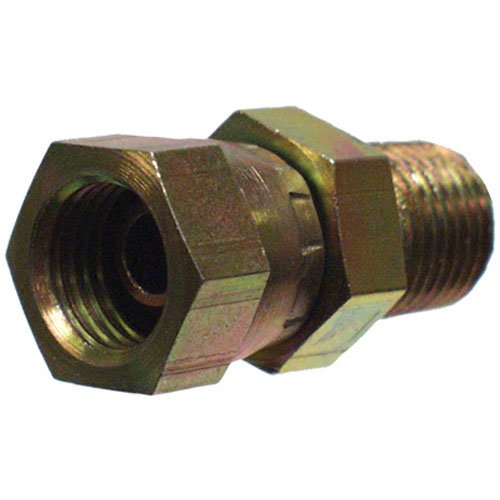 "Apache 39004375 1/2"" Male Pipe x 1/2"" Female Pipe Swivel, Hydraulic Adapter"