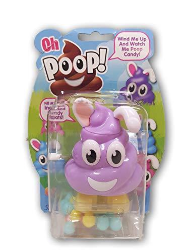 Easter Oh Poop Bunny Candy Dispenser Basket Stuffer, 0.52 oz Purple