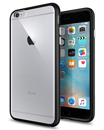 (Spigen Ultra Hybrid iPhone 6S Plus Case with Air Cushion Technology and Hybrid Drop Protection for iPhone 6S Plus / iPhone 6 Plus - Black)