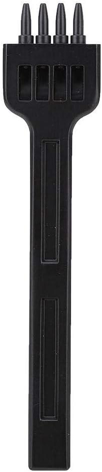 HEEEPDD 3 St/ück Lederzacken Stanzer aus Hartstahl Zackenlochstanzer Leder N/ähwerkzeug 4 mm 2//4//6 L/öcher f/ür Lederhandwerk Black 4mm