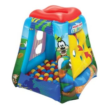ball pit. disney mickey having a ball with 20 balls pit s