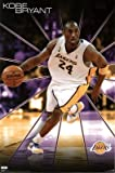 (22x34) Los Angeles Lakers Kobe Bryant, Dribbling Basketball Sports Poster Print