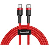 Baseus CATKLF-G09 Cafule Series Flash Charge Cable, Type-C PD2.0, 1M, Kırmızı