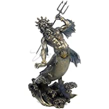 """Top Collection 11"""" Poseidon- God of the Sea Statue in Cold Cast Bronze"""