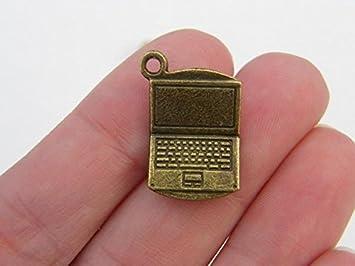 5 colgantes para ordenador portátil de color bronce antiguo BC22: Amazon.es: Hogar