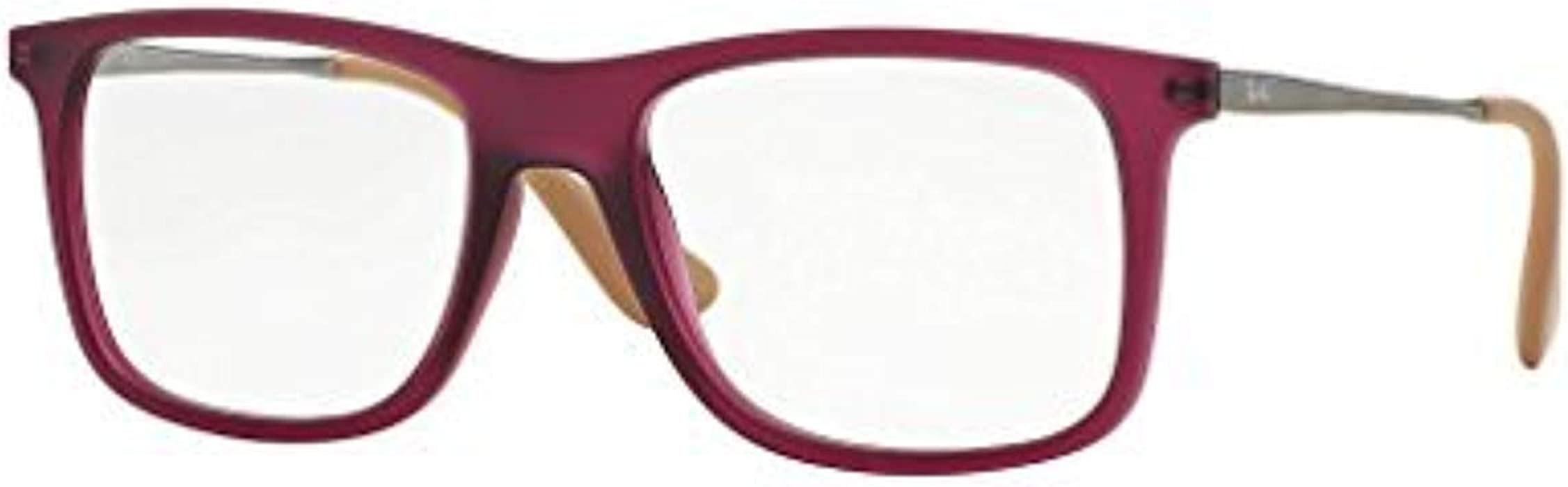 bed0a340cee Amazon.com  Ray-Ban Vista RX 7054 5526 Eyeglasses Rubber Violet ...