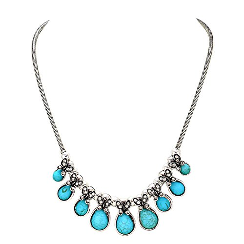 Rosemarie Collections Women's Statement Necklace and Earrings Set