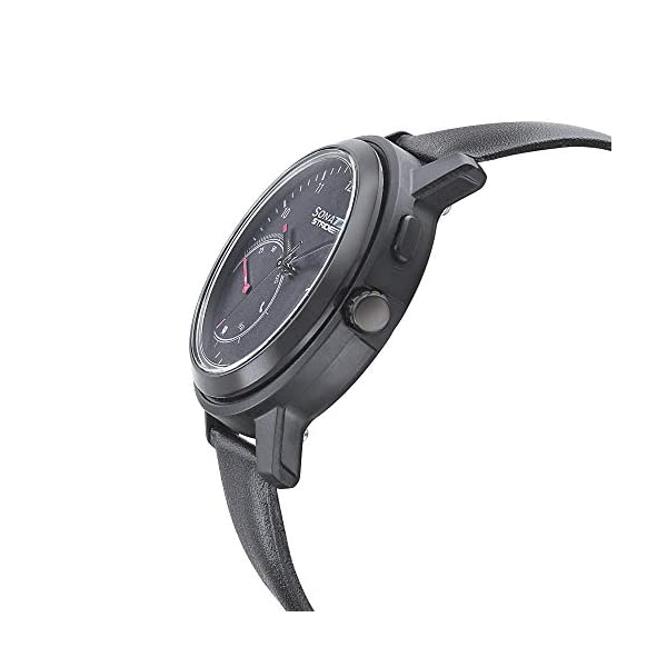 Sonata Stride Pro Hybrid Smart Watch Black Dial for Men -7132PL04