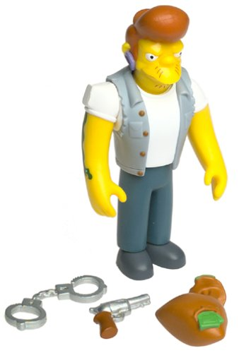(The Simpsons - 2001 - Playmates - Series 6 - Snake Action Figure - w/ Accessories - Intelli-Tronic Voice Activation - Out of Production - Limited Edition - Collectible)