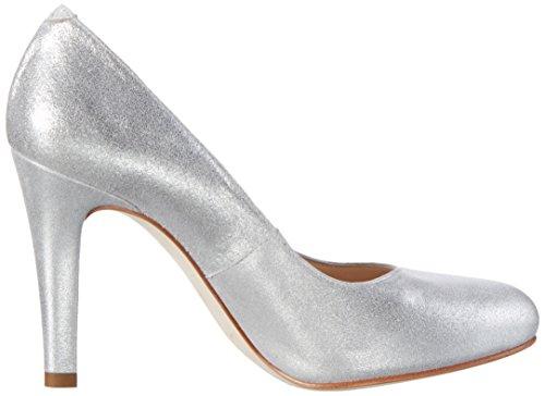 Unisa Patric_17_mts, Zapatos de Tacón para Mujer Plateado (Silver)