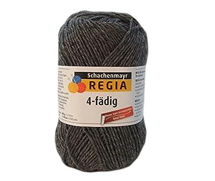 Resistente a arañazos calientes sin lana para pies wolligwarme! Schachenmayr Regia Uni en color gris