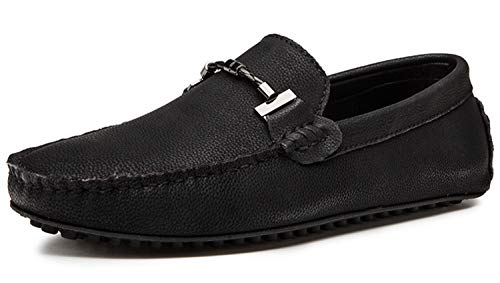 (Go Tour Driving Shoes for Men - Casual Moccasin Loafers Black 38)