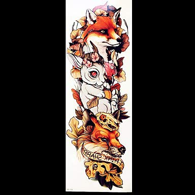 5pcs Temporary Tattoos Totem Series Flower Series Sticker Smooth Disposable Safety Body Arts Arm Leg Temporary Tattoos Style Decal by HIUHIU