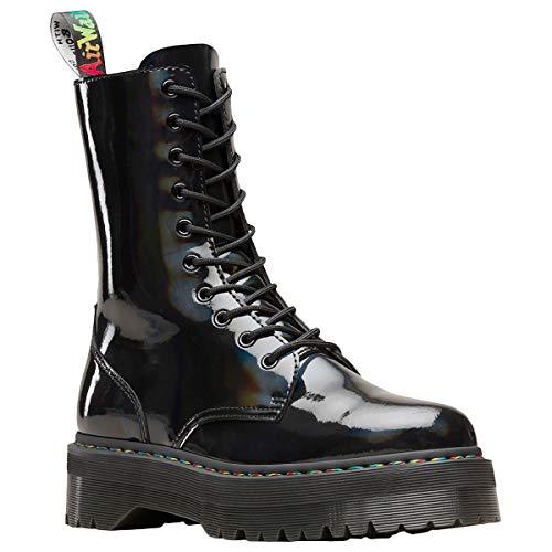 Dr. Martens Jadon Hi Rainbow Mens Black Casual Dress Boots Shoes UK - Marten Dress Mens Dr Shoes