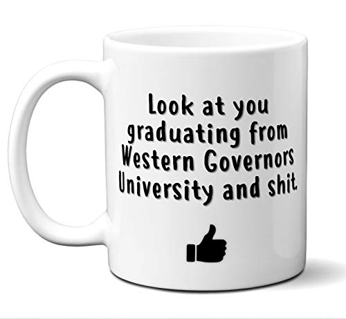 College Graduation Gifts. Western Governors University Grad Coffee Mug Cup Men Women Him Her School Students Class 2019. Funny School Grad Diploma Academic Degree Congratulations. 11 oz