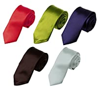 "DAN20 More Color Available 2"" Inch Skinny Tie Five Package Set 5PT By Dan Smith"