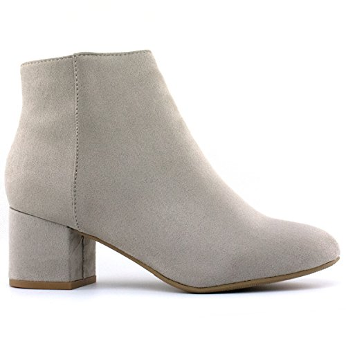 Ankle Comfortable Round Zip Premier Bootie Smoke Bootie Ankle Heel Miracle L Boot Casual Standard Everyday Up Toe Low Classified Pwq1ZPp