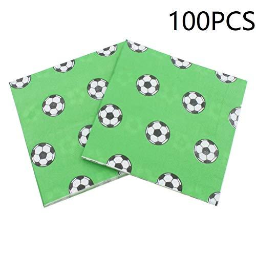 100pcs Football Paper Napkin Party Napkin Soccer Theme Party Supplies