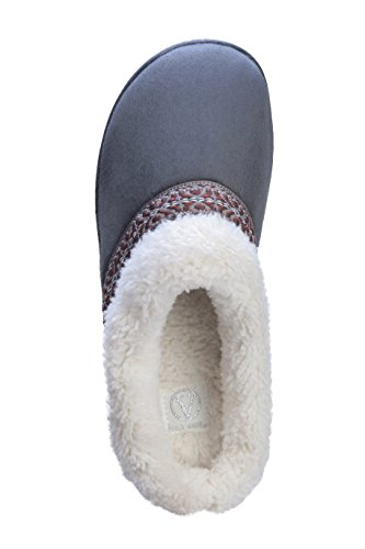 Womens Gray Ultra Outdoor Slipper Joan Suede Indoor Faux Cozy vass Clog and 5fxPaqB