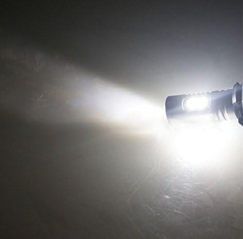 80W Upgrade LED Headlights Bulbs Super White for Yamaha Banshee 350 YFZ350 Big Bear YFM350 YFB250 Timberwolf Pack of 2