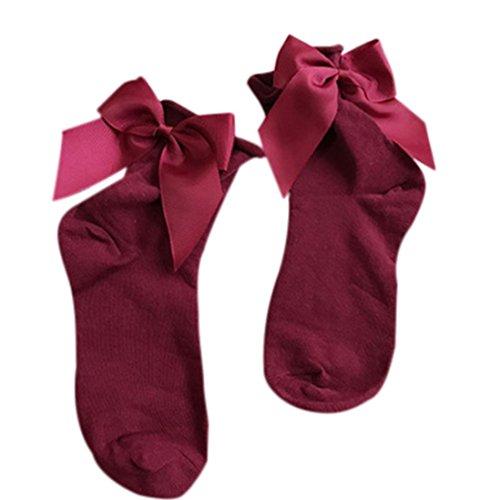 Chaussettes Pour Femmes, Chaussettes Encolure En Coton Doux Pour Filles Inkach Avec Bowknot F