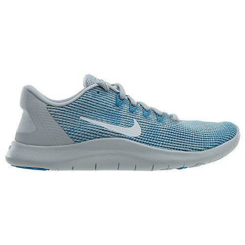 Mujer Damen white Nike equator Platinum Pure Blue 2018 Zapatillas Para Run Running De Flex Laufschuh zwFwa