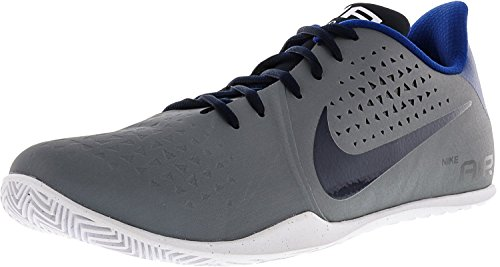 Nike Heren Lucht Ziet Lage Basketbalschoen Koel Grijs / Obsidian / Wit / Sportzaal Blauw