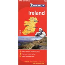 Ireland Road Map MH712 Michelin