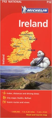 Map Of Ireland For Driving.Michelin Ireland Map 712 Maps Country Michelin Michelin